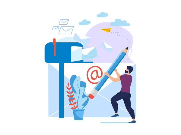 Write Email Illustration