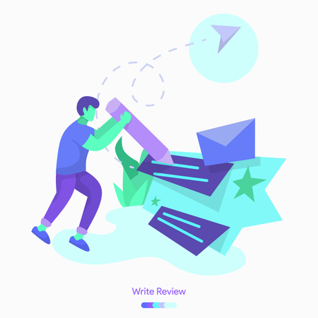 Write Review Illustration
