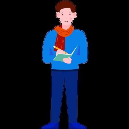 Writer Illustration