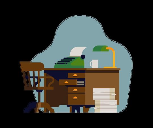 Writers desk Illustration