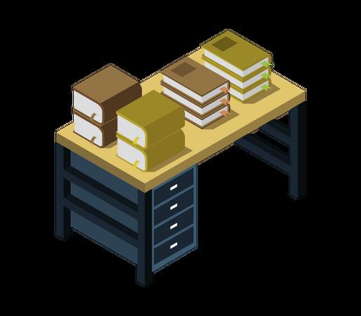 Writing table Illustration