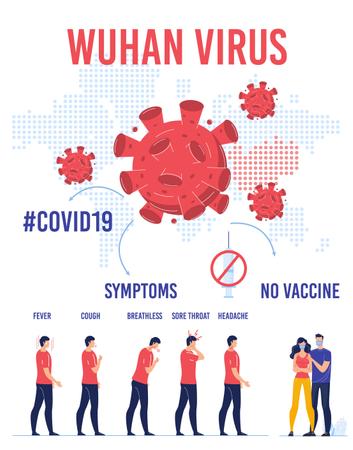 Wuhan Virus Transmission Protection Infographic Illustration