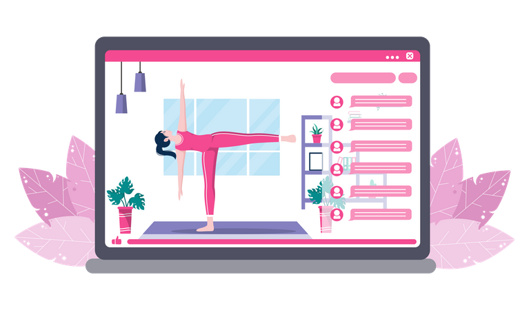 Yoga and Meditation Classes Illustration