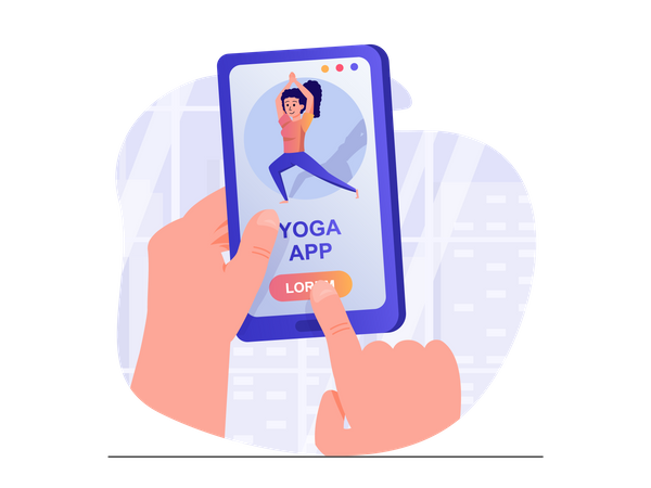 Yoga app Illustration