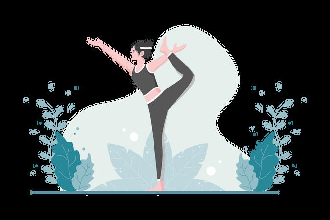 Yoga Instructor Illustration