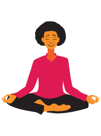 Yoga Women Illustration