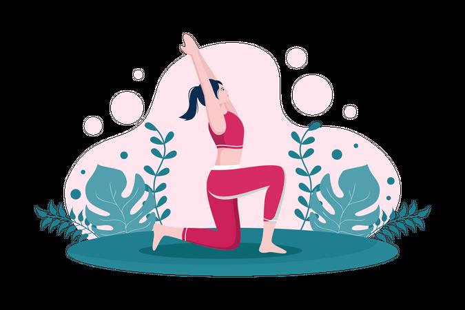 Yoga Trainer Illustration