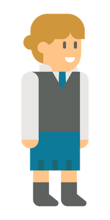 Young business girl Illustration