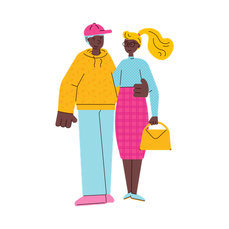 Young couple Illustration