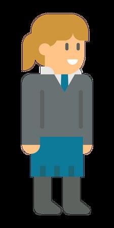 Young employee Illustration