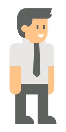 Young manager Illustration