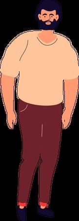 Young stylist beard man Illustration